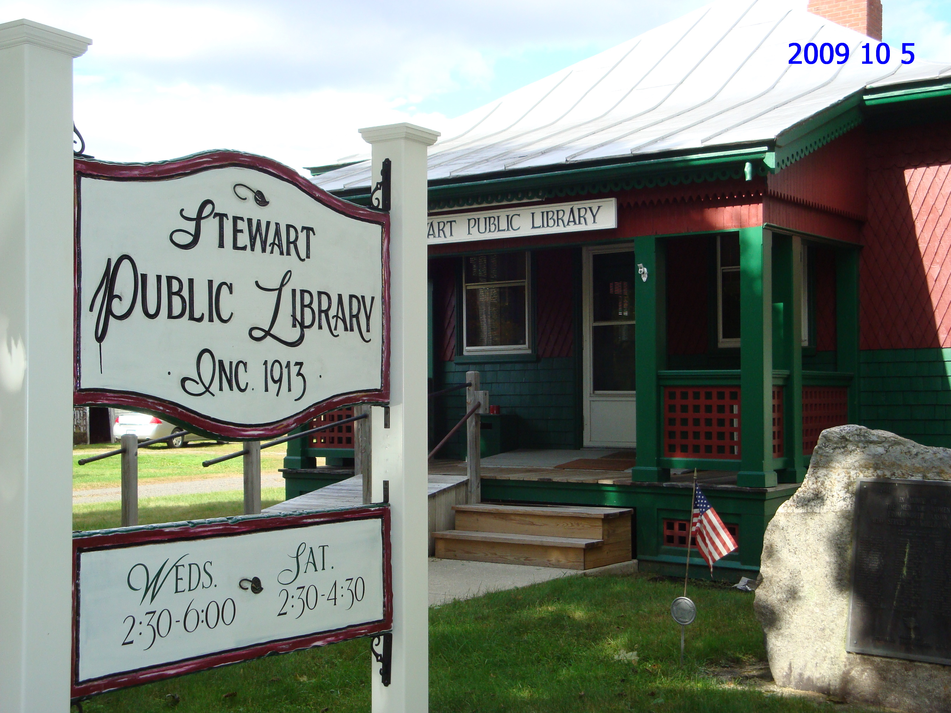 Stewart Public Library Sign